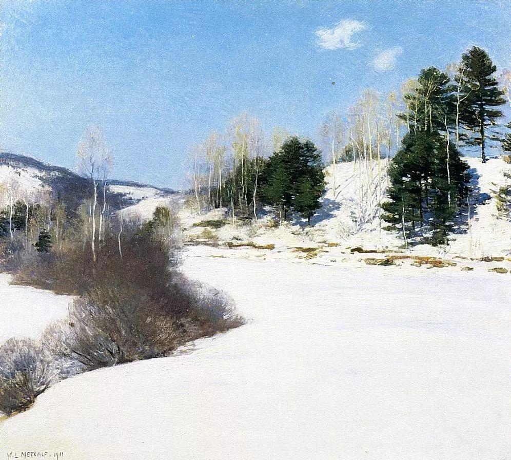 自然的真意和力量,美国画家Willard Leroy Metcalf插图9