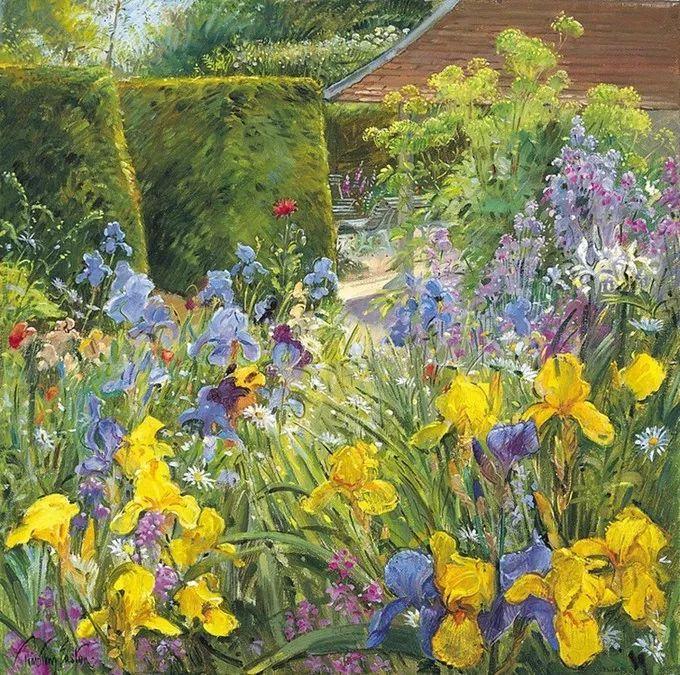 太美了!缤纷斑斓的英伦风情花园,画家蒂莫西·伊斯顿的风景画美到迷了眼!插图