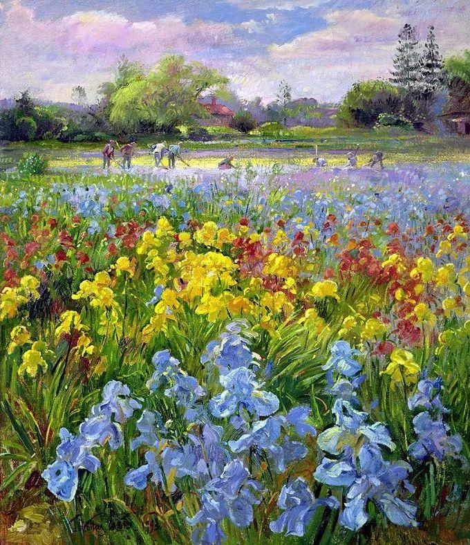 太美了!缤纷斑斓的英伦风情花园,画家蒂莫西·伊斯顿的风景画美到迷了眼!插图3