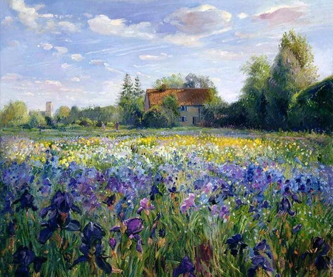 太美了!缤纷斑斓的英伦风情花园,画家蒂莫西·伊斯顿的风景画美到迷了眼!插图4