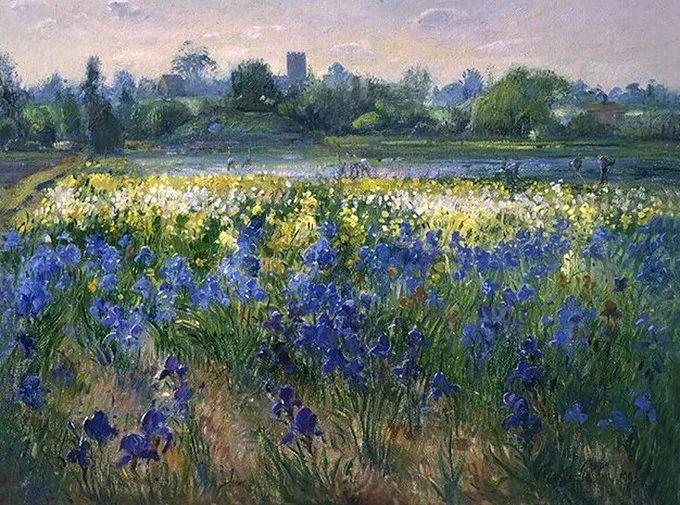 太美了!缤纷斑斓的英伦风情花园,画家蒂莫西·伊斯顿的风景画美到迷了眼!插图5