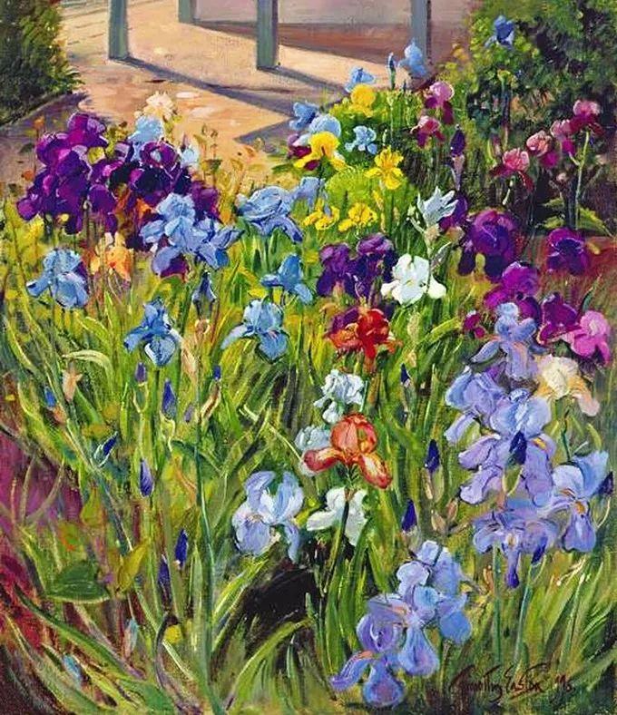 太美了!缤纷斑斓的英伦风情花园,画家蒂莫西·伊斯顿的风景画美到迷了眼!插图6