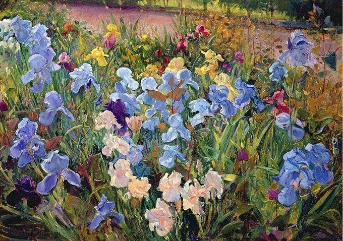 太美了!缤纷斑斓的英伦风情花园,画家蒂莫西·伊斯顿的风景画美到迷了眼!插图9