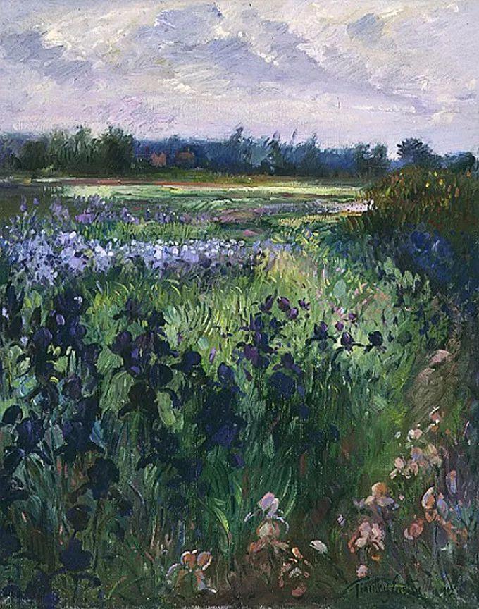 太美了!缤纷斑斓的英伦风情花园,画家蒂莫西·伊斯顿的风景画美到迷了眼!插图11