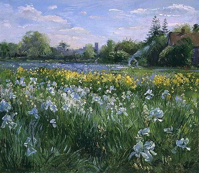 太美了!缤纷斑斓的英伦风情花园,画家蒂莫西·伊斯顿的风景画美到迷了眼!插图13
