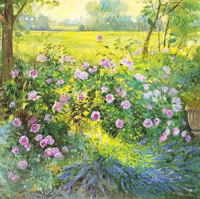 太美了!缤纷斑斓的英伦风情花园,画家蒂莫西·伊斯顿的风景画美到迷了眼!插图14