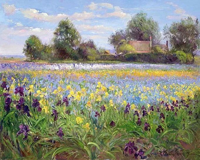 太美了!缤纷斑斓的英伦风情花园,画家蒂莫西·伊斯顿的风景画美到迷了眼!插图15