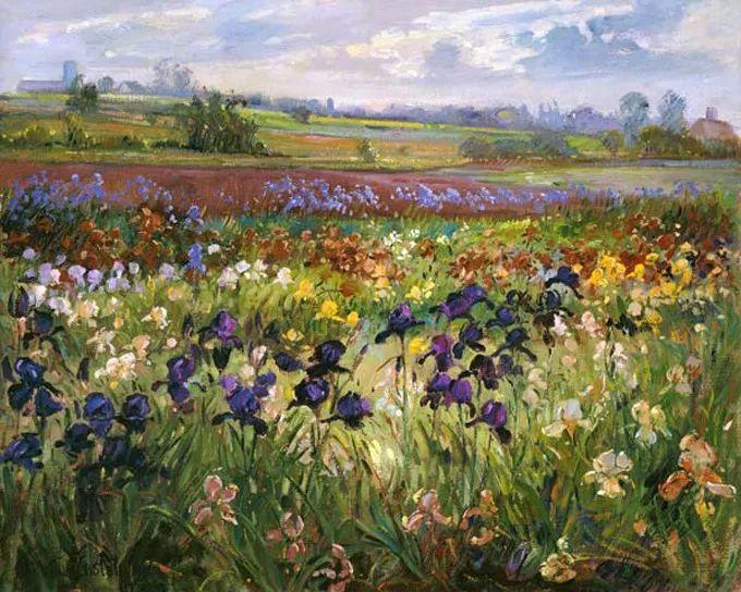 太美了!缤纷斑斓的英伦风情花园,画家蒂莫西·伊斯顿的风景画美到迷了眼!插图16