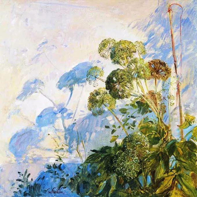太美了!缤纷斑斓的英伦风情花园,画家蒂莫西·伊斯顿的风景画美到迷了眼!插图17