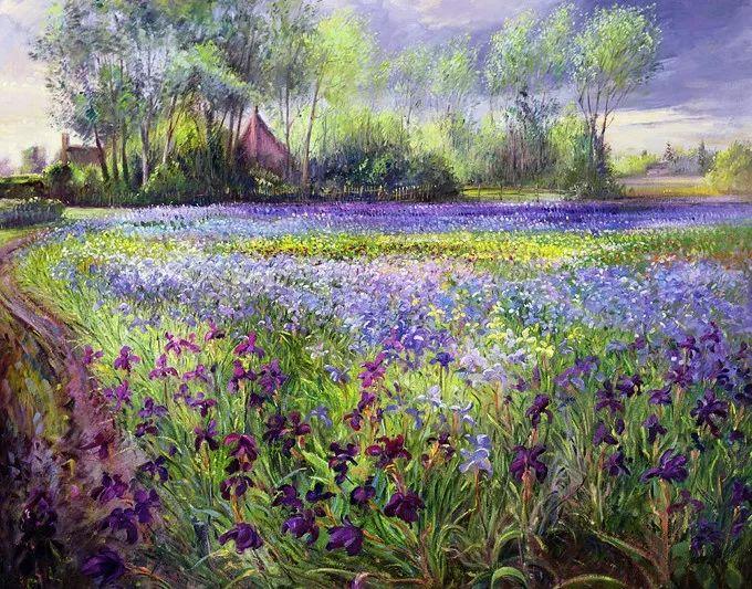 太美了!缤纷斑斓的英伦风情花园,画家蒂莫西·伊斯顿的风景画美到迷了眼!插图20