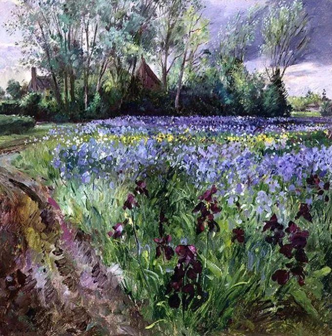 太美了!缤纷斑斓的英伦风情花园,画家蒂莫西·伊斯顿的风景画美到迷了眼!插图22