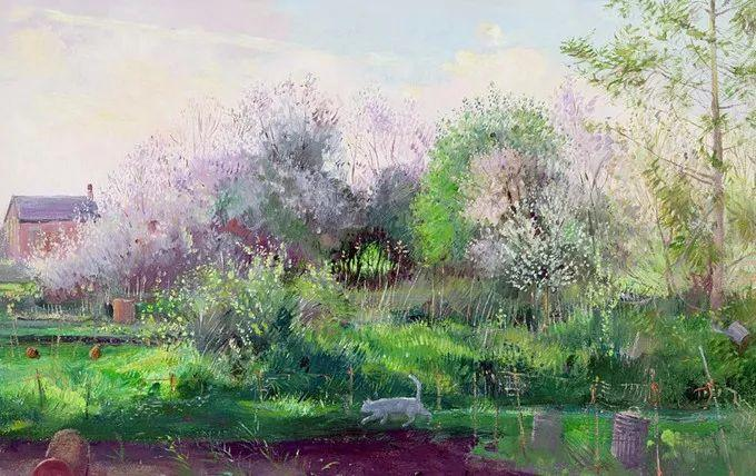 太美了!缤纷斑斓的英伦风情花园,画家蒂莫西·伊斯顿的风景画美到迷了眼!插图23