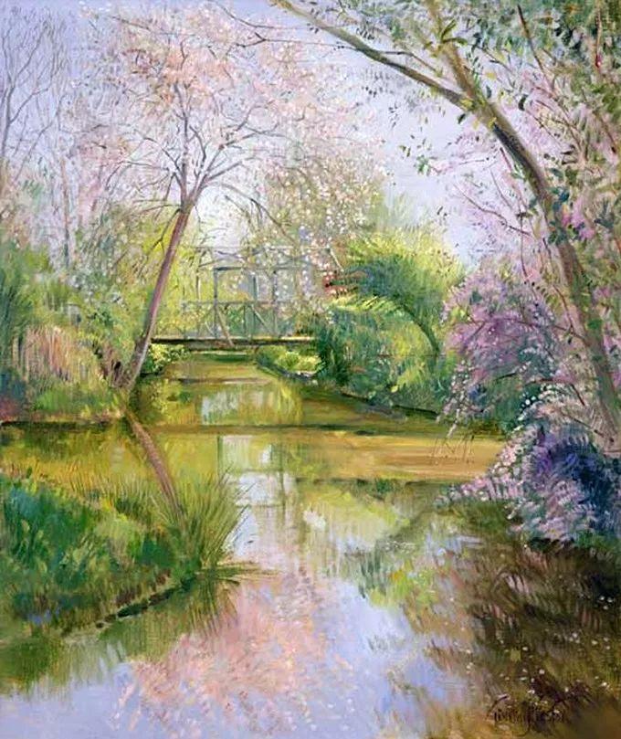 太美了!缤纷斑斓的英伦风情花园,画家蒂莫西·伊斯顿的风景画美到迷了眼!插图25