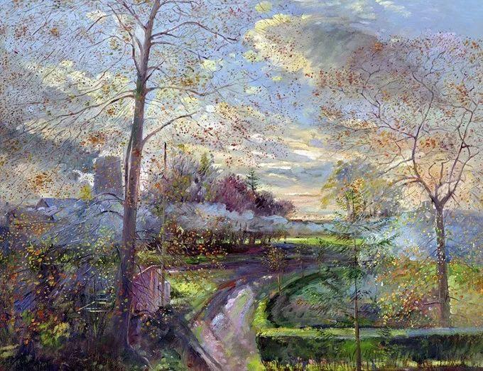 太美了!缤纷斑斓的英伦风情花园,画家蒂莫西·伊斯顿的风景画美到迷了眼!插图26