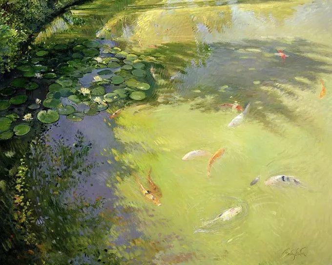 太美了!缤纷斑斓的英伦风情花园,画家蒂莫西·伊斯顿的风景画美到迷了眼!插图27