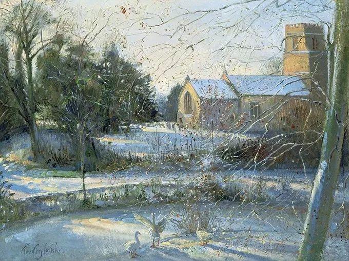 太美了!缤纷斑斓的英伦风情花园,画家蒂莫西·伊斯顿的风景画美到迷了眼!插图30