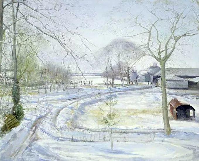 太美了!缤纷斑斓的英伦风情花园,画家蒂莫西·伊斯顿的风景画美到迷了眼!插图31