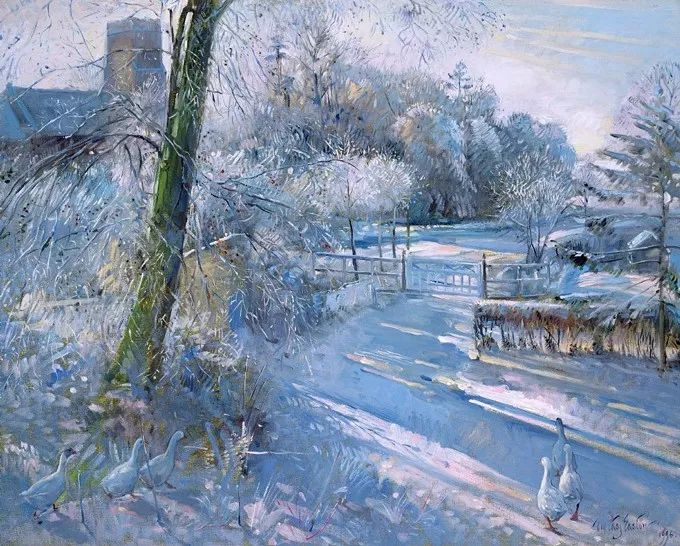 太美了!缤纷斑斓的英伦风情花园,画家蒂莫西·伊斯顿的风景画美到迷了眼!插图32