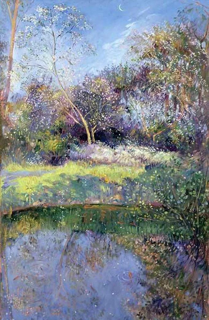 太美了!缤纷斑斓的英伦风情花园,画家蒂莫西·伊斯顿的风景画美到迷了眼!插图34