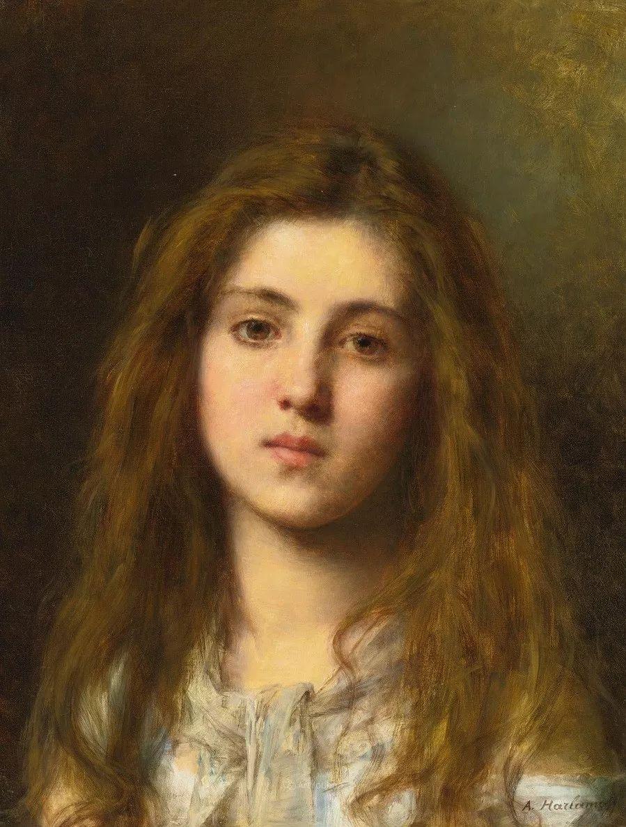 他笔尖犹如天籁,唯美的意境下宛若天仙的女性肖像画插图5