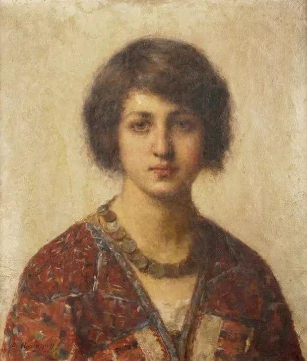 他笔尖犹如天籁,唯美的意境下宛若天仙的女性肖像画插图17
