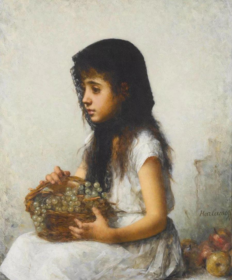 他笔尖犹如天籁,唯美的意境下宛若天仙的女性肖像画插图23