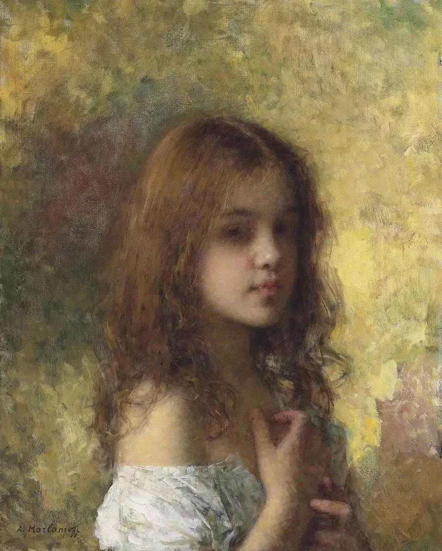 他笔尖犹如天籁,唯美的意境下宛若天仙的女性肖像画插图31