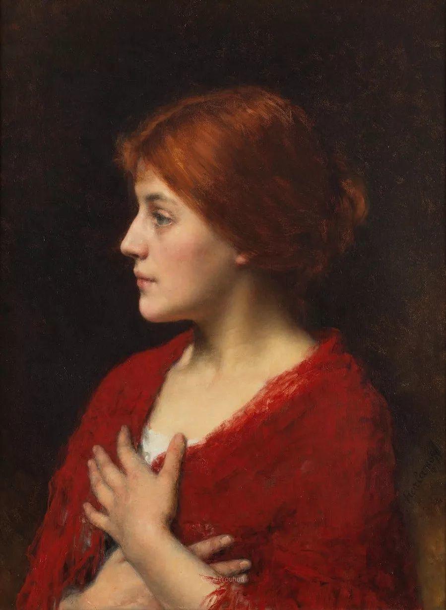 他笔尖犹如天籁,唯美的意境下宛若天仙的女性肖像画插图39