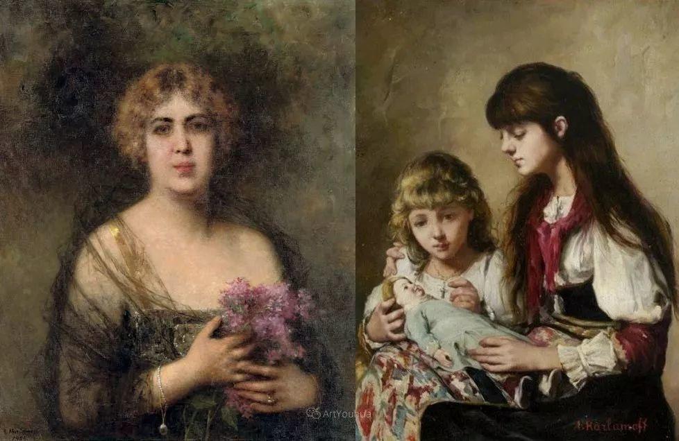 他笔尖犹如天籁,唯美的意境下宛若天仙的女性肖像画插图43