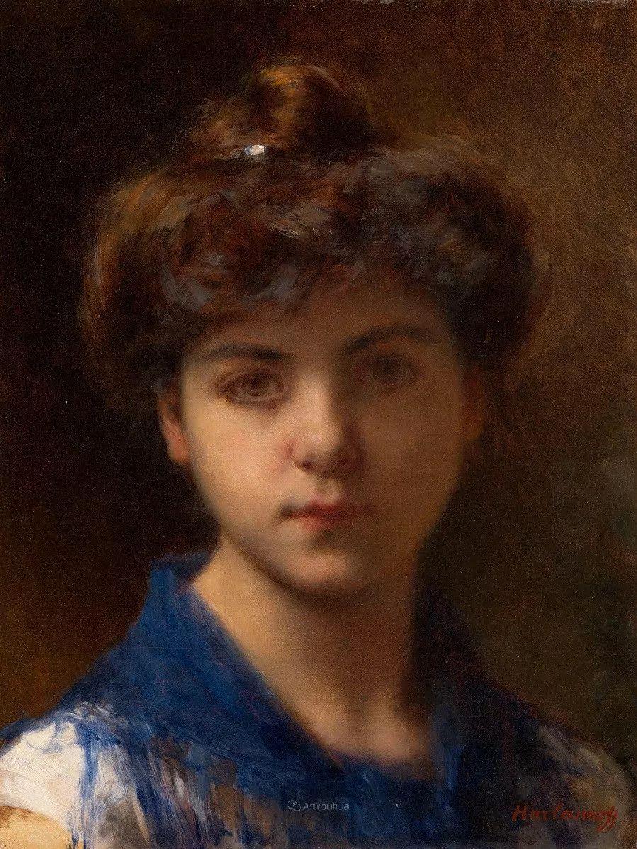 他笔尖犹如天籁,唯美的意境下宛若天仙的女性肖像画插图47