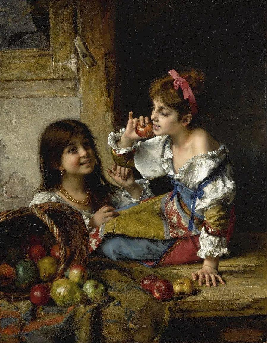 他笔尖犹如天籁,唯美的意境下宛若天仙的女性肖像画插图51