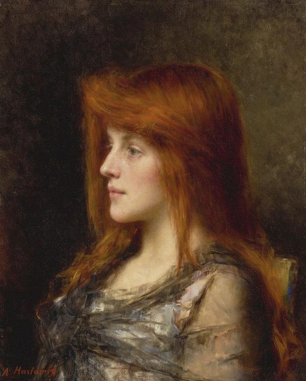 他笔尖犹如天籁,唯美的意境下宛若天仙的女性肖像画插图57