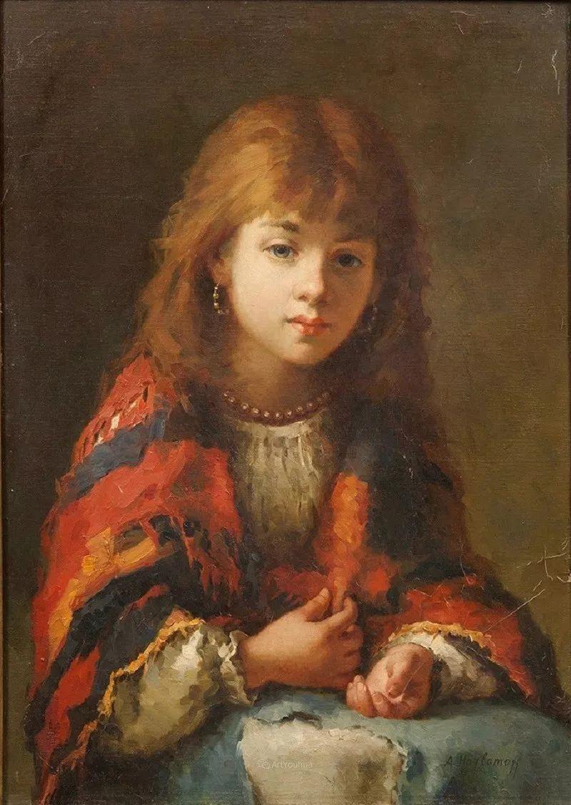 他笔尖犹如天籁,唯美的意境下宛若天仙的女性肖像画插图61