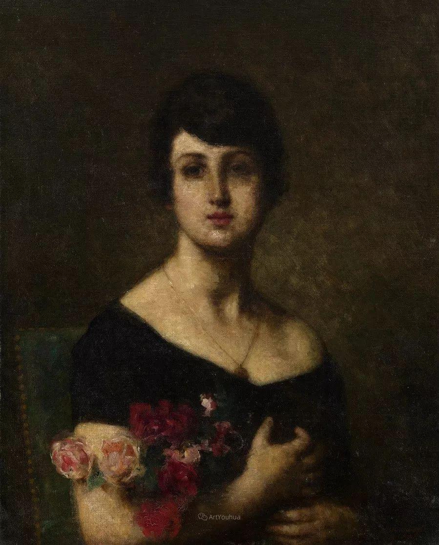 他笔尖犹如天籁,唯美的意境下宛若天仙的女性肖像画插图63
