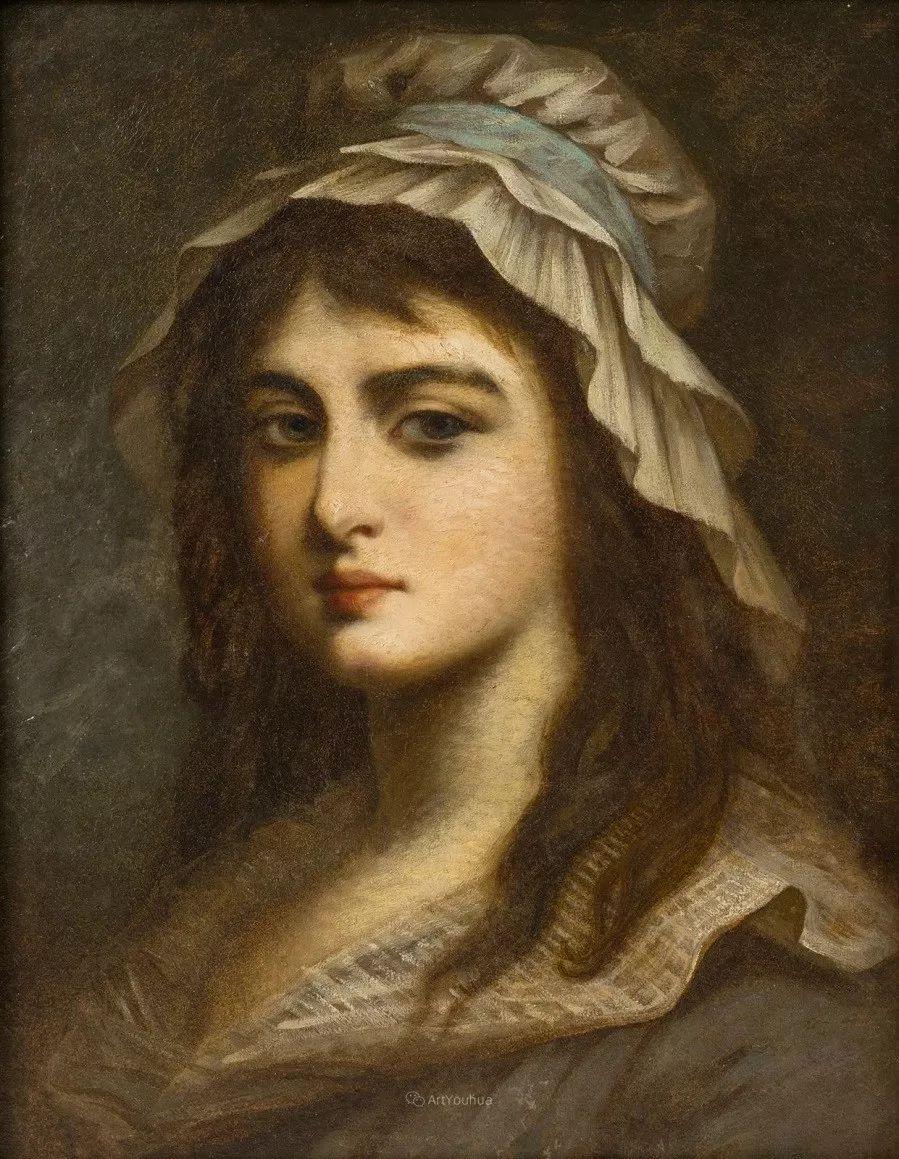 他笔尖犹如天籁,唯美的意境下宛若天仙的女性肖像画插图65