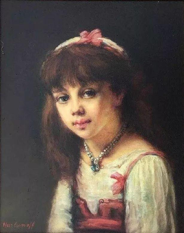 他笔尖犹如天籁,唯美的意境下宛若天仙的女性肖像画插图67