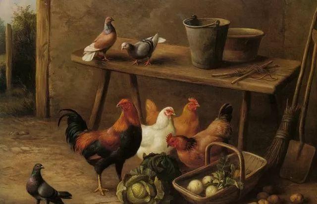 院子里的家禽,英国画家埃德加·亨特插图59