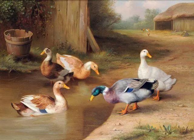 院子里的家禽,英国画家埃德加·亨特插图71