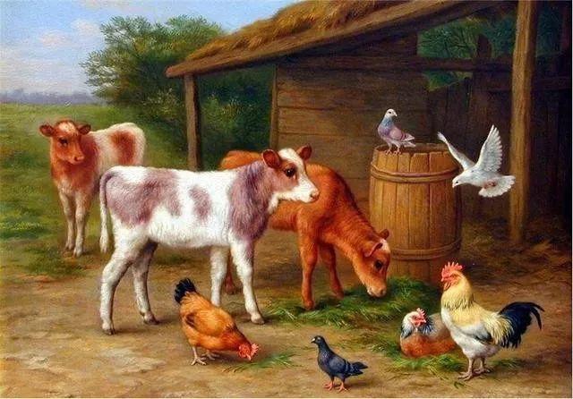 院子里的家禽,英国画家埃德加·亨特插图77