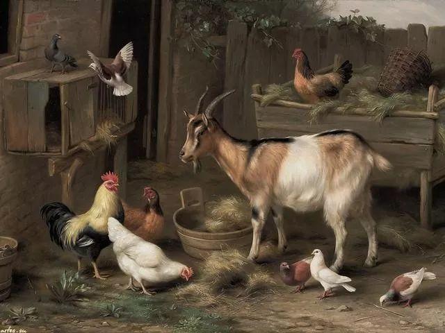 院子里的家禽,英国画家埃德加·亨特插图79