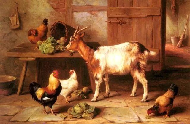 院子里的家禽,英国画家埃德加·亨特插图81