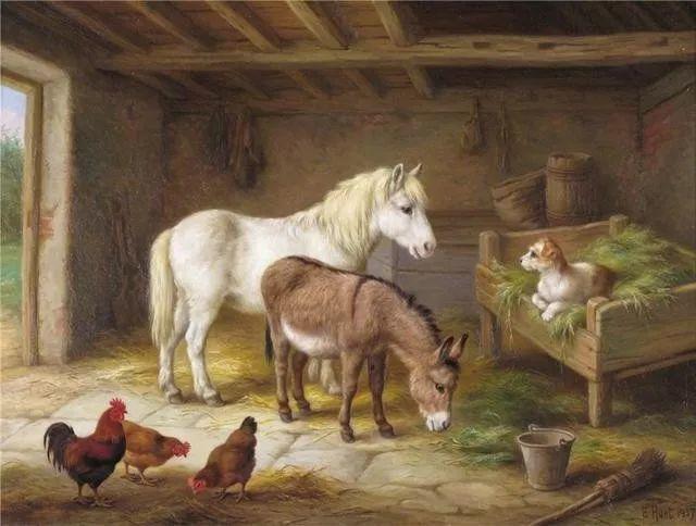 院子里的家禽,英国画家埃德加·亨特插图89