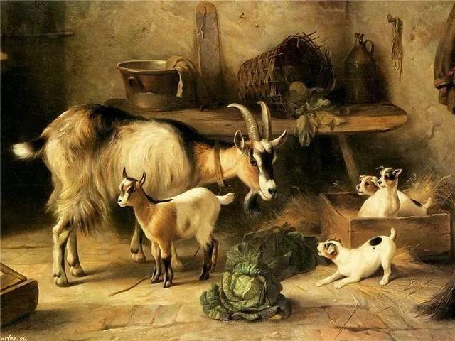 院子里的家禽,英国画家埃德加·亨特插图97