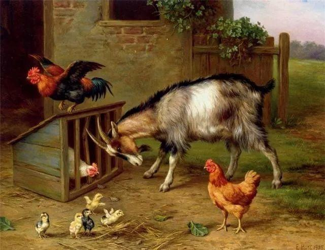 院子里的家禽,英国画家埃德加·亨特插图101