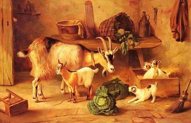 院子里的家禽,英国画家埃德加·亨特插图111