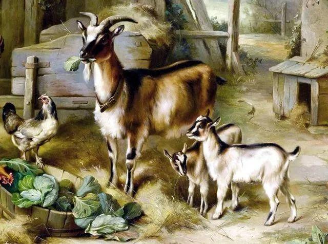 院子里的家禽,英国画家埃德加·亨特插图117