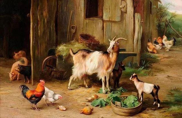 院子里的家禽,英国画家埃德加·亨特插图119