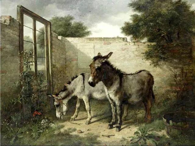 院子里的家禽,英国画家埃德加·亨特插图121