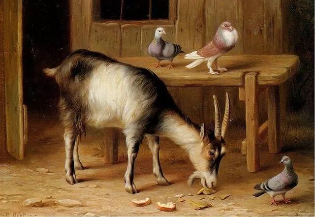 院子里的家禽,英国画家埃德加·亨特插图125