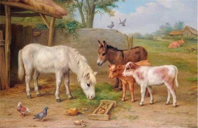 院子里的家禽,英国画家埃德加·亨特插图129